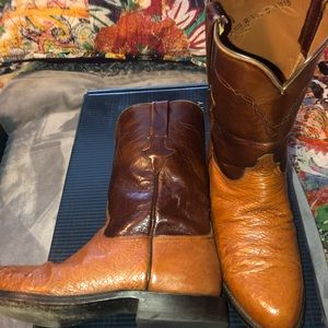 Brown and Tan Lucchese boots